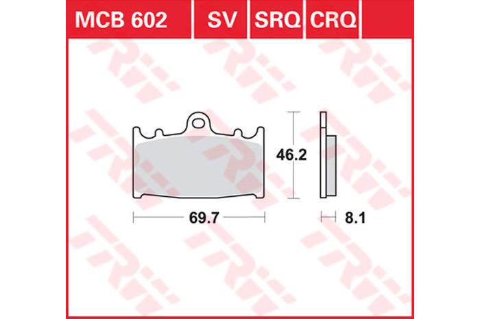 TRW ティーアールダブルBRAKE-PADS SINTER [MCB602SV]