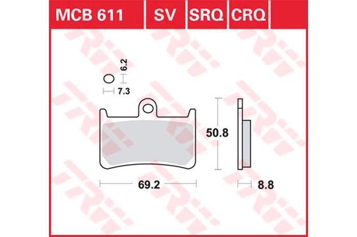 【TRW】煞車來令片  燒結 [MCB611SV] - 「Webike-摩托百貨」