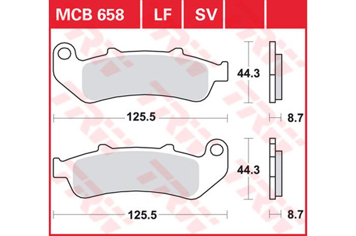 【TRW】煞車來令片 燒結 [MCB658SV] - 「Webike-摩托百貨」