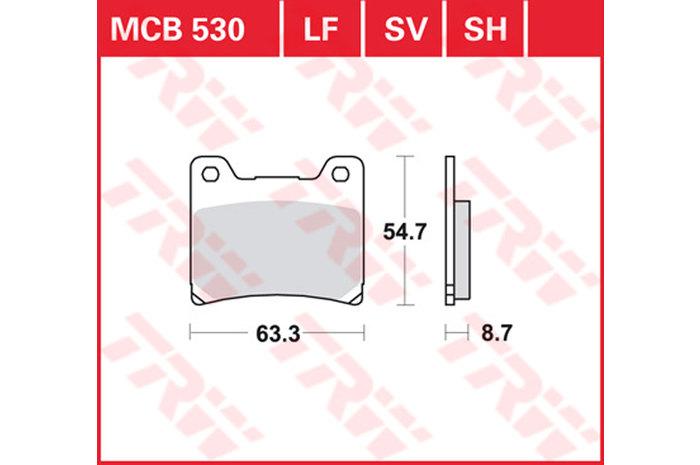 TRW ティーアールダブルBRAKE-PADS SINTER [MCB530SH]