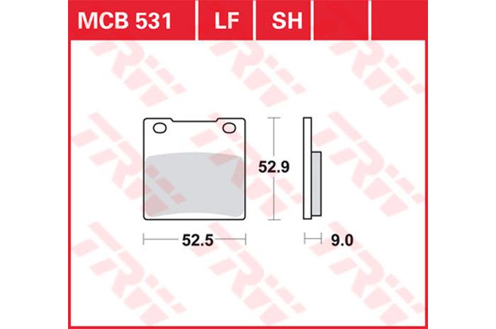 【TRW】煞車來令片  燒結 [MCB531SH] - 「Webike-摩托百貨」