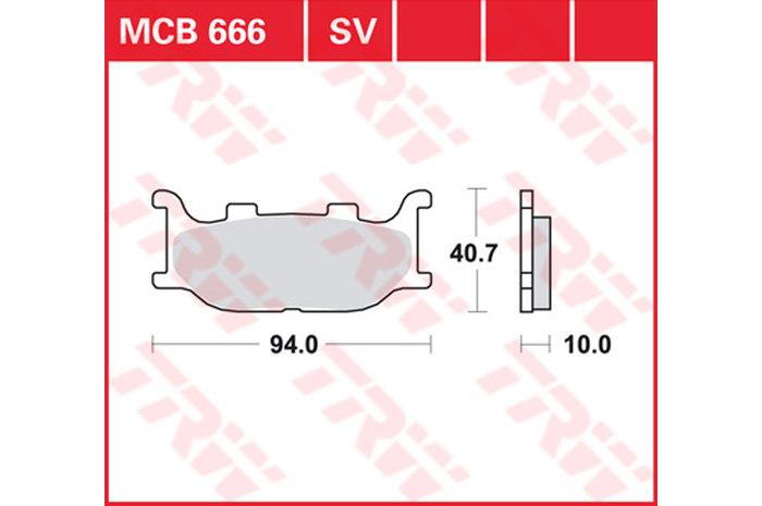 【TRW】煞車來令片 燒結 [MCB666SV] - 「Webike-摩托百貨」