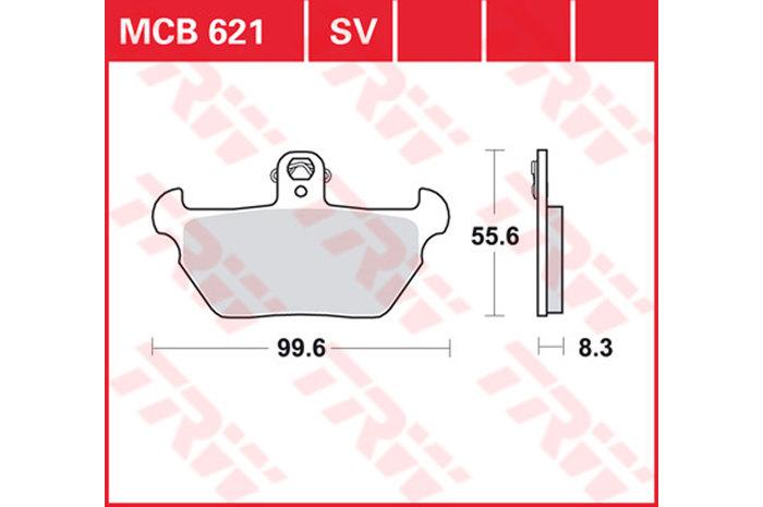 【TRW】有機材料型煞車來令片 [MCB621] - 「Webike-摩托百貨」