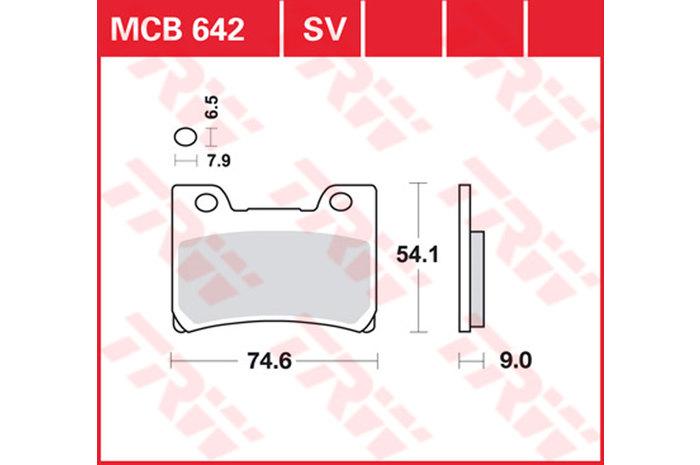 【TRW】有機材料型煞車來令片 [MCB642] - 「Webike-摩托百貨」