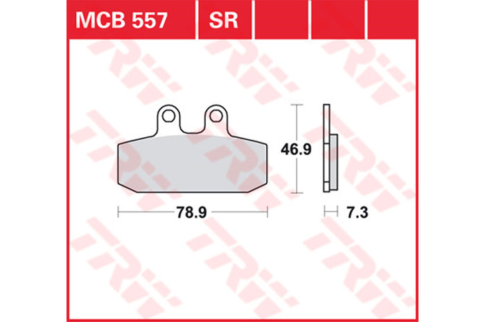 【TRW】有機材料型煞車來令片 /速克達和越野車 [MCB557] - 「Webike-摩托百貨」