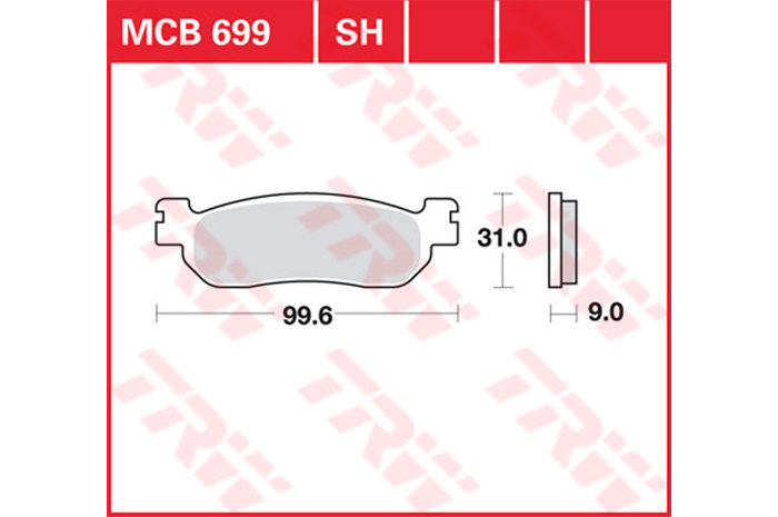 【TRW】煞車來令片 燒結 [MCB699SH] - 「Webike-摩托百貨」
