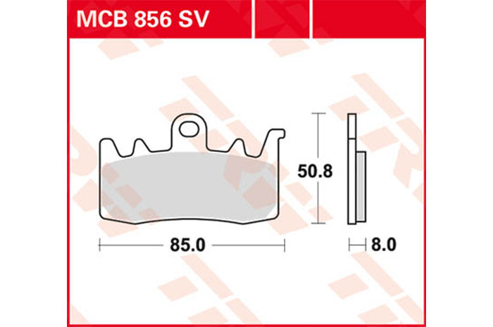 TRW ティーアールダブルBRAKE-PADS SINTER [MCB856SV]