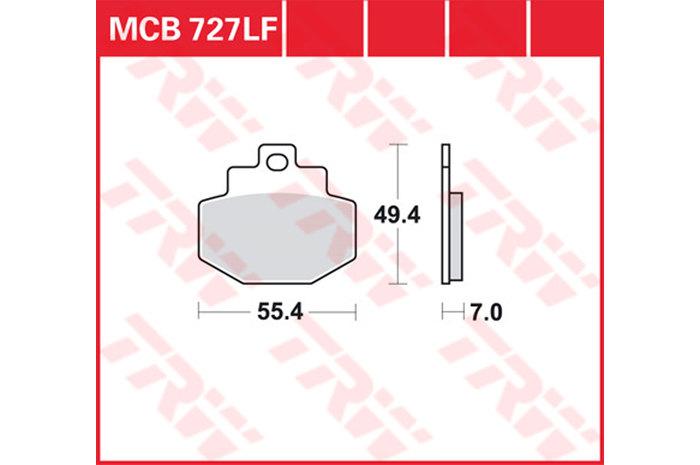 【TRW】有機材料型煞車來令片 /速克達和越野車 [MCB727] - 「Webike-摩托百貨」