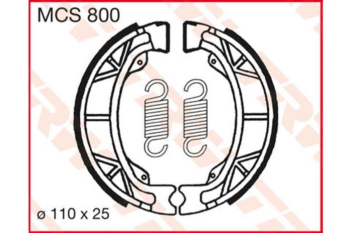 TRW ティーアールダブルBRAKE-SHOES ORGANIC [MCS800]