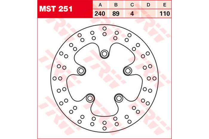 【TRW】煞車碟盤 [MST251] - 「Webike-摩托百貨」