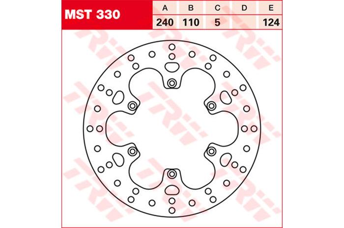 【TRW】煞車碟盤 [MST330] - 「Webike-摩托百貨」