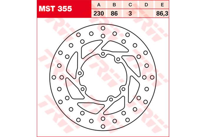 TRW ティーアールダブルBRAKE-DISCS [MST355]