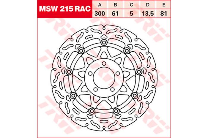 TRW ティーアールダブルBRAKE-DISCS RACING [MSW215RAC2]