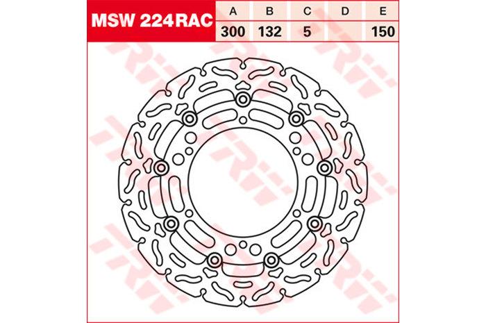 TRW ティーアールダブルBRAKE-DISCS RACING [MSW224RAC2]