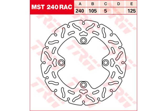 TRW ティーアールダブルBRAKE-DISCS RACING [MST240RAC2]