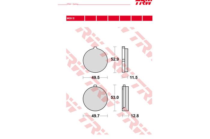 【TRW】有機材料型煞車來令片 [MCB072] - 「Webike-摩托百貨」