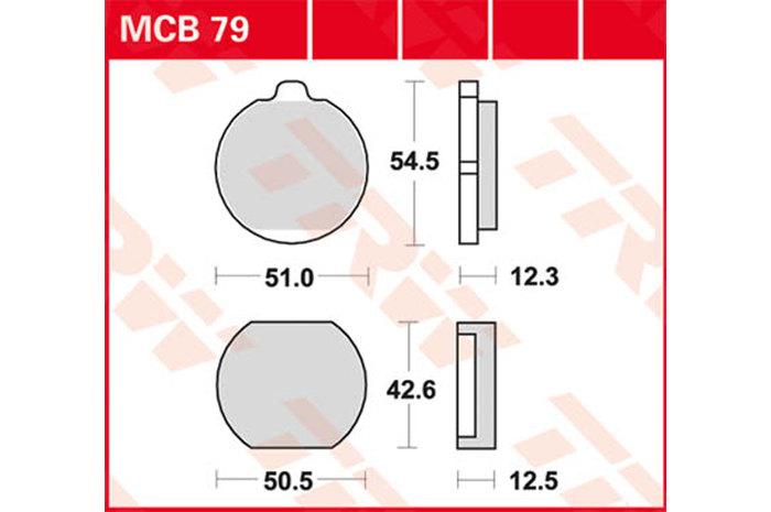 【TRW】有機材料型煞車來令片 [MCB079] - 「Webike-摩托百貨」