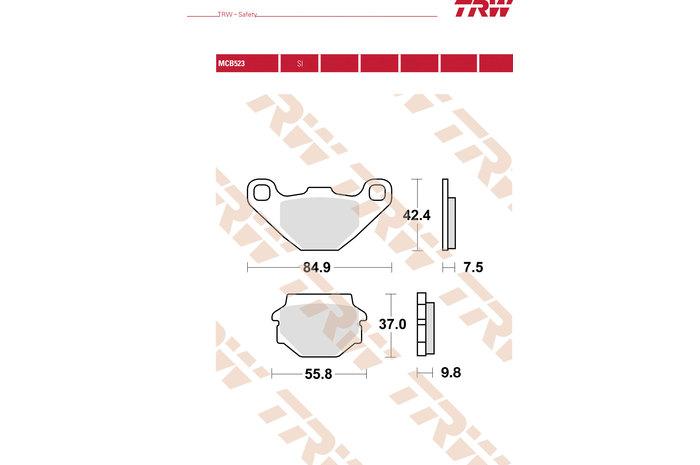 TRW ティーアールダブルBRAKE-PADS ORGANIC [MCB523]