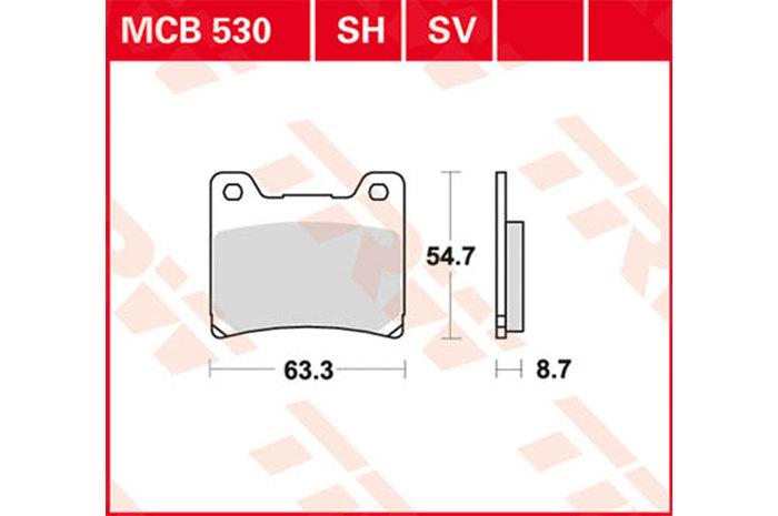 TRW ティーアールダブルBRAKE-PADS ORGANIC [MCB530]