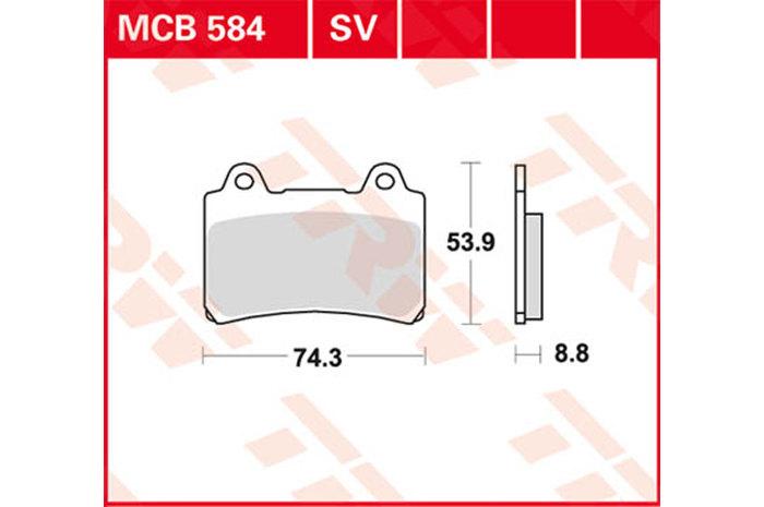 TRW ティーアールダブルBRAKE-PADS ORGANIC [MCB584]