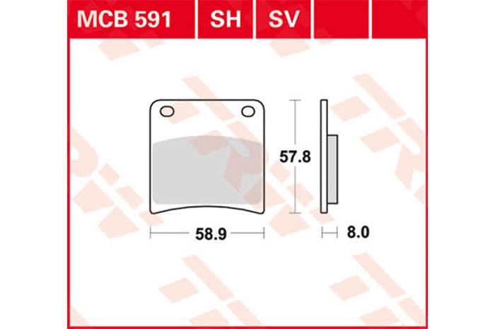 【TRW】有機材料型煞車來令片 [MCB591] - 「Webike-摩托百貨」