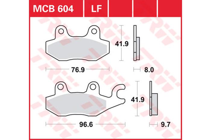 【TRW】有機材料型煞車來令片 [MCB604LF] - 「Webike-摩托百貨」
