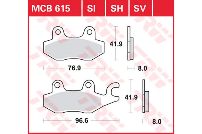 TRW ティーアールダブルBRAKE-PADS ORGANIC [MCB615]