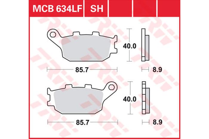 【TRW】有機材料型煞車來令片 [MCB634] - 「Webike-摩托百貨」