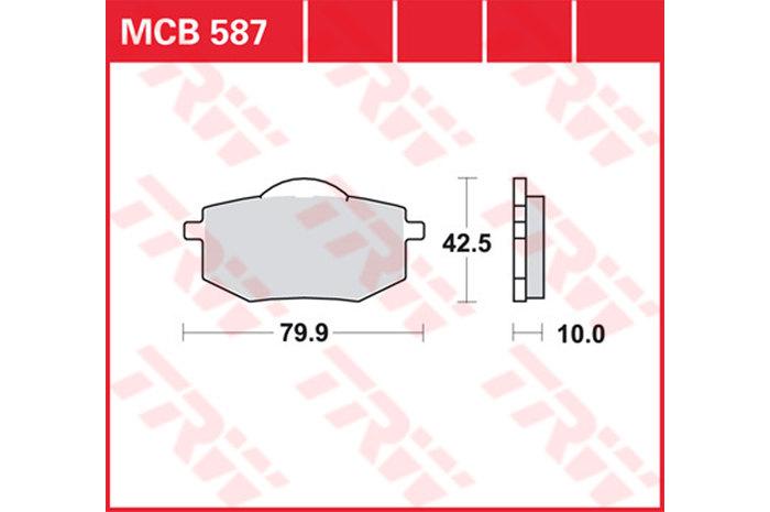 【TRW】有機材料型煞車來令片 [MCB587] - 「Webike-摩托百貨」