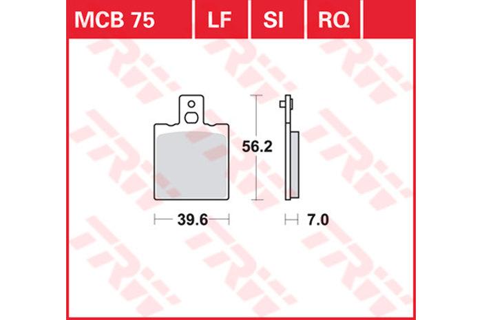 【TRW】有機材料型煞車來令片 [MCB075] - 「Webike-摩托百貨」