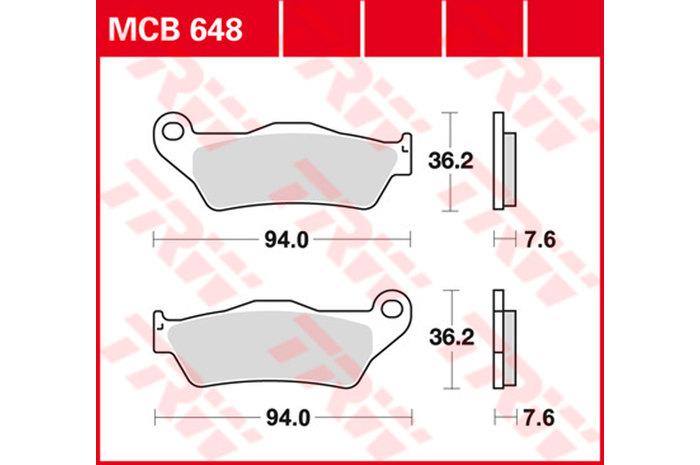【TRW】煞車來令片  燒結 [MCB648SH] - 「Webike-摩托百貨」