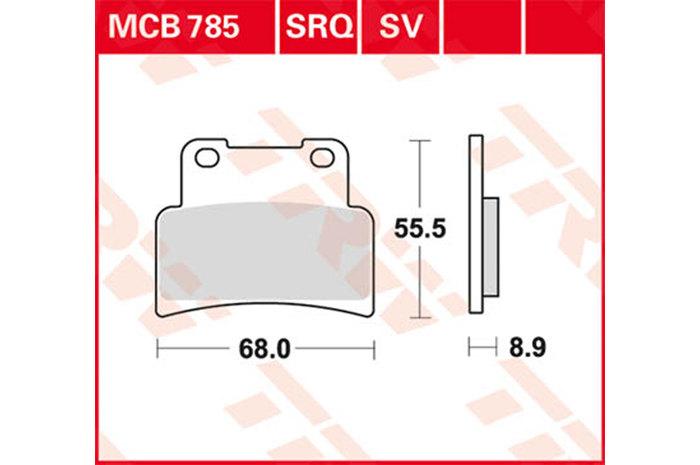 TRW ティーアールダブルBRAKE-PADS ORGANIC [MCB785]