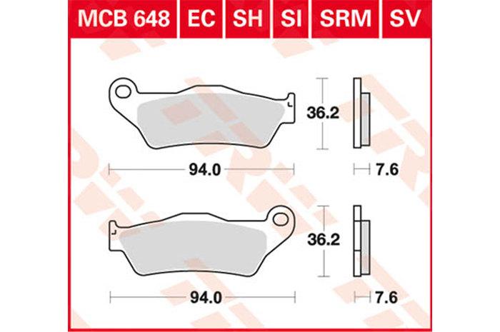 【TRW】有機材料型煞車來令片/速克達和越野車 [MCB648SRM] - 「Webike-摩托百貨」