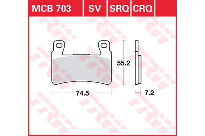 【TRW】有機材料型煞車來令片 [MCB703] - 「Webike-摩托百貨」
