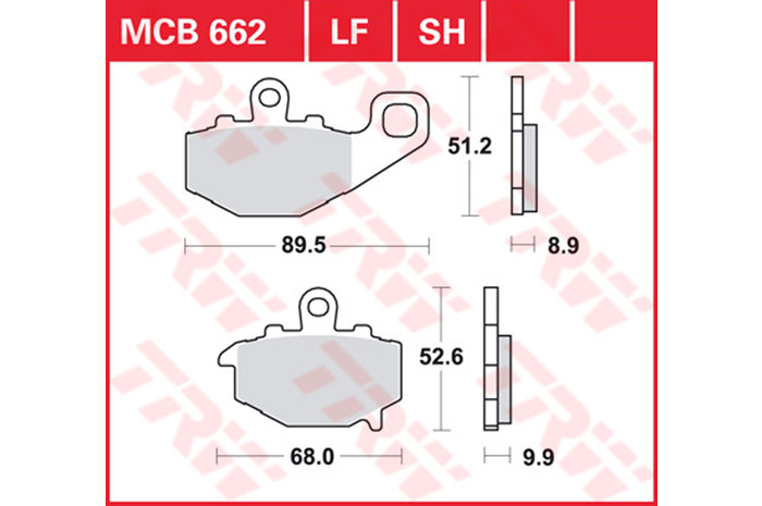 TRW ティーアールダブルBRAKE-PADS ORGANIC [MCB662]