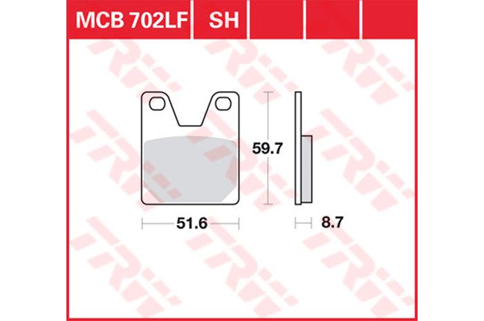 【TRW】煞車來令片 燒結 [MCB702SH] - 「Webike-摩托百貨」
