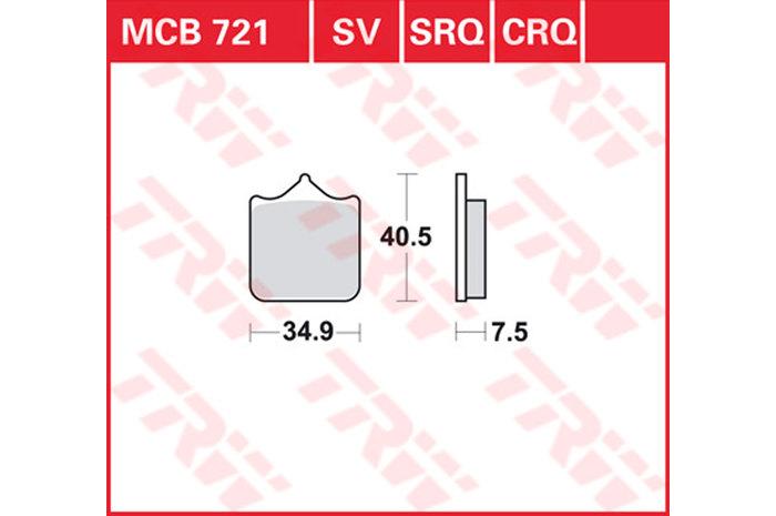 BRAKE-PADS SINTER [MCB721SV]