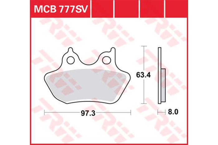 TRW ティーアールダブルBRAKE-PADS SINTER [MCB777SV]