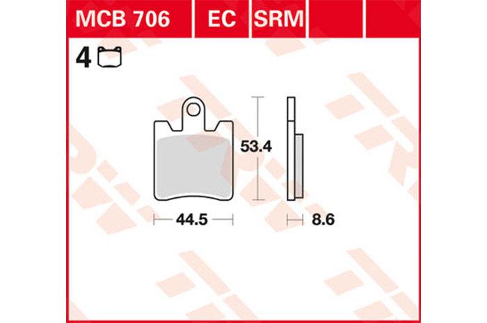 【TRW】煞車來令片 燒結 [MCB706SV] - 「Webike-摩托百貨」