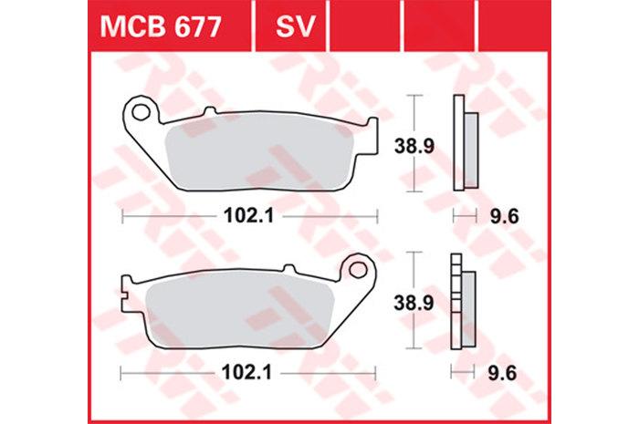 【TRW】有機材料型煞車來令片 [MCB677] - 「Webike-摩托百貨」