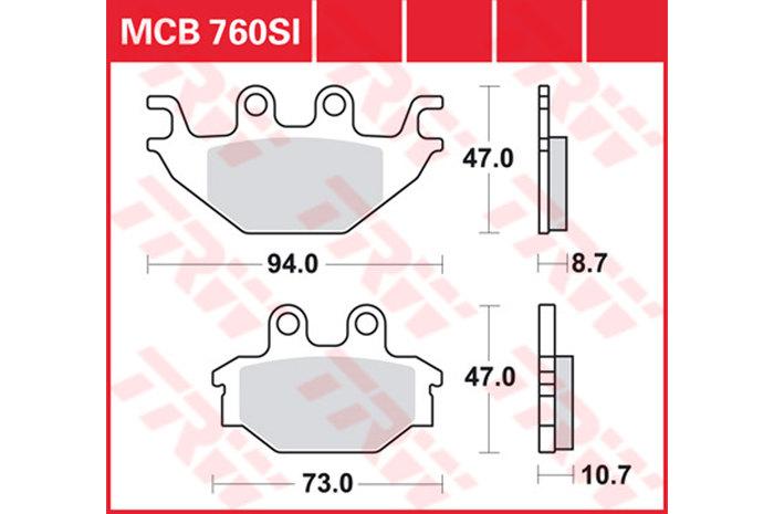 【TRW】有機材料型煞車來令片 [MCB760LF] - 「Webike-摩托百貨」