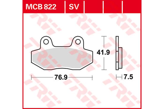【TRW】有機材料型煞車來令片 [MCB822] - 「Webike-摩托百貨」