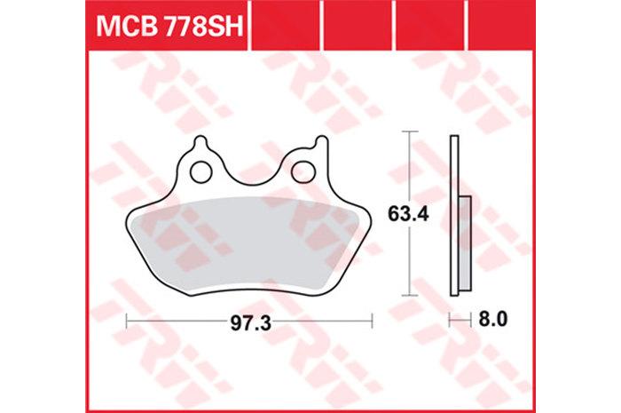 【TRW】煞車來令片 燒結 [MCB778SH] - 「Webike-摩托百貨」