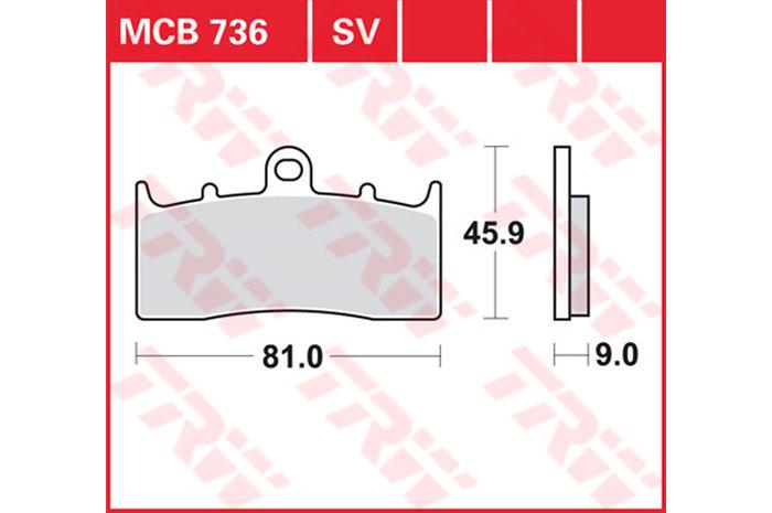 【TRW】煞車來令片 燒結 [MCB736SV] - 「Webike-摩托百貨」