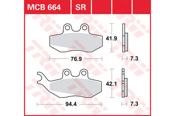 【TRW】有機材料型煞車來令片 /速克達和越野車 [MCB664EC] - 「Webike-摩托百貨」