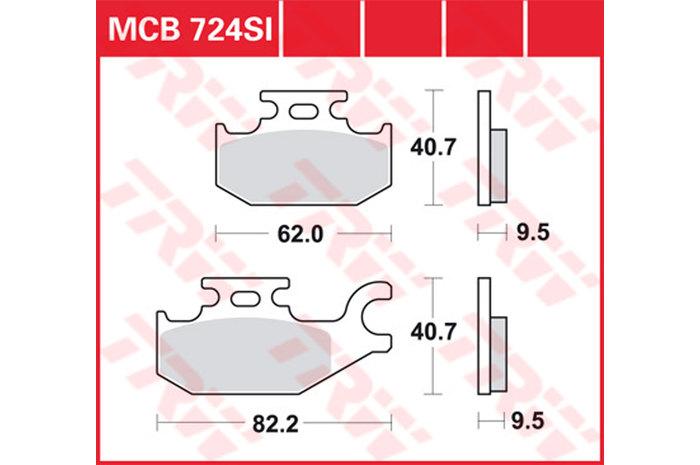 【TRW】煞車來令片 燒結 [MCB724SI] - 「Webike-摩托百貨」