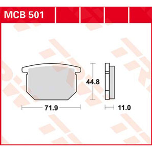 TRW ティーアールダブルBRAKE-PADS ORGANIC [MCB501]