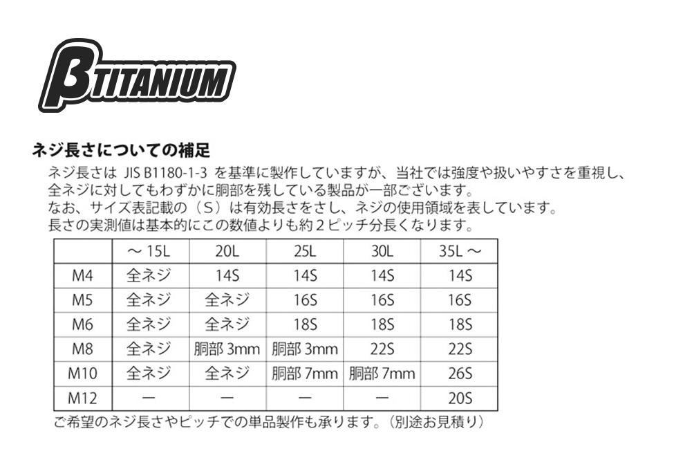 【βTITANIUM】直型內六角螺絲/M10 - 「Webike-摩托百貨」