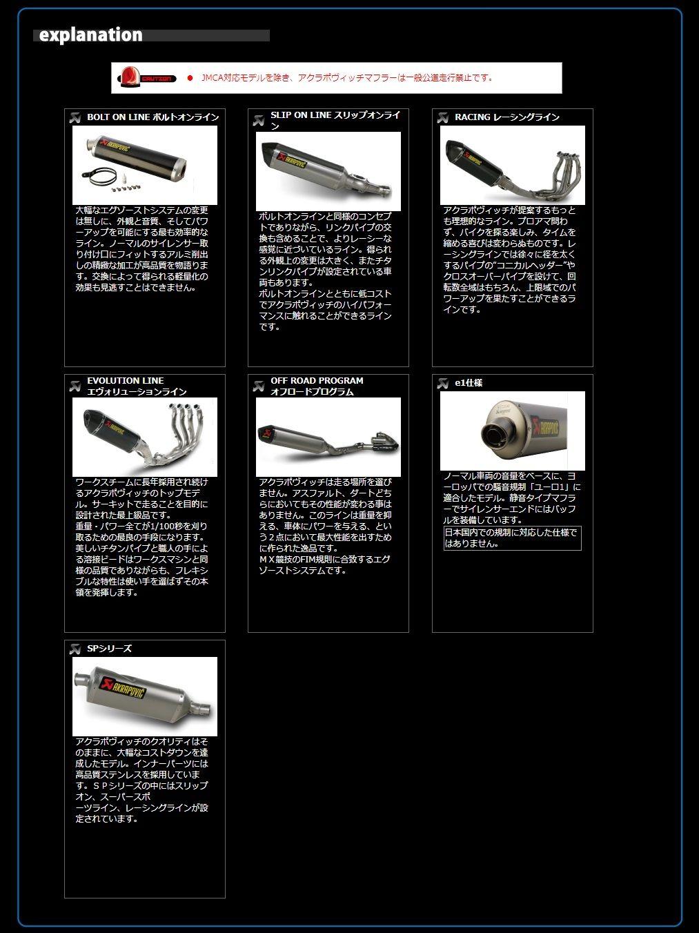 【AKRAPOVIC】JMCA規格 Racing Line (2-1) 全段排氣管 - 「Webike-摩托百貨」