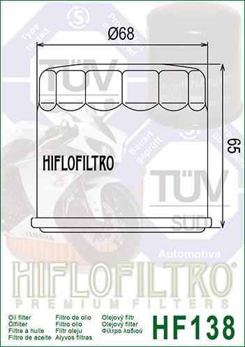 【HIFLOFILTRO】Hiflofiltro 機油濾芯/HF138 - 「Webike-摩托百貨」